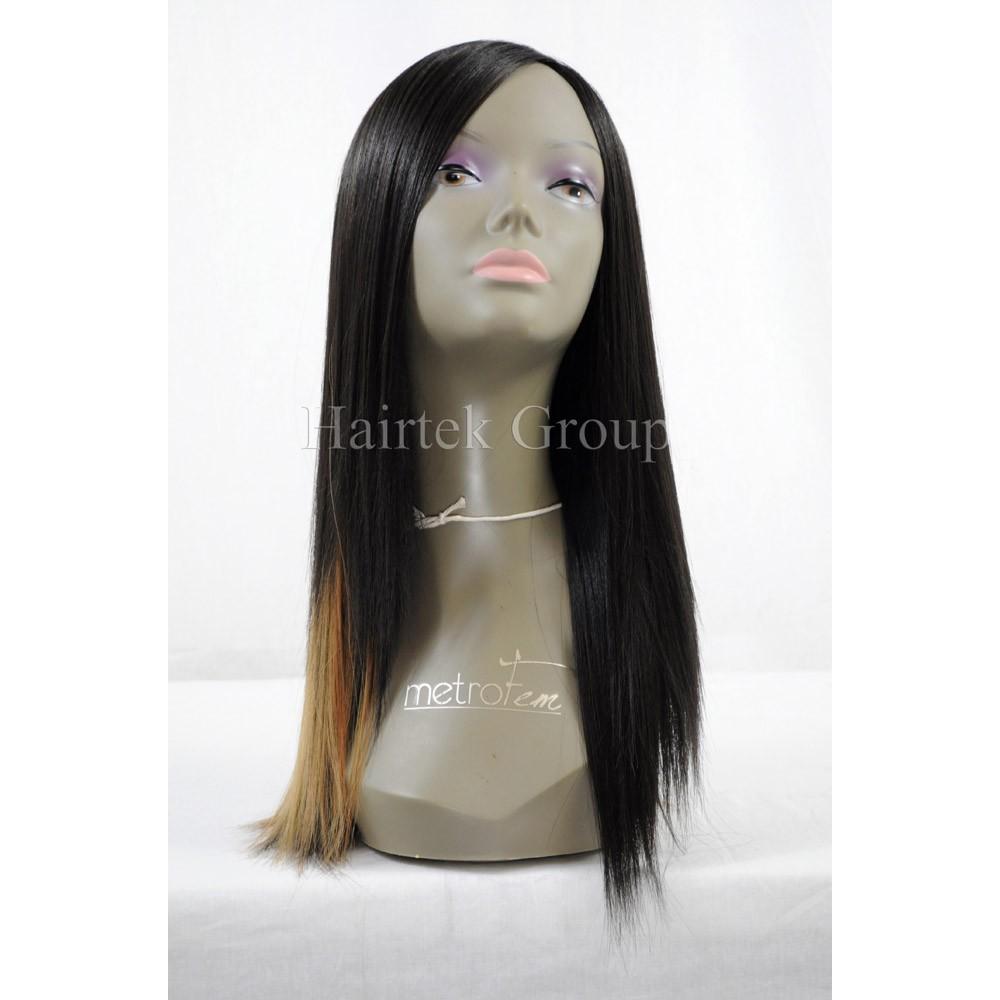 1214 6 Pcs Organics Human Hair Blend All In One Yaki Straight