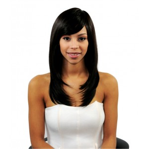 Pink - Organics Human Hair Blend Natural Wig