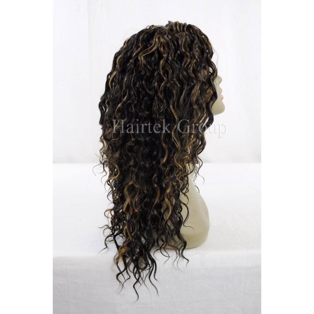 1416 5 Pcs Organics Human Hair Blend All In One Beach Curl Weave
